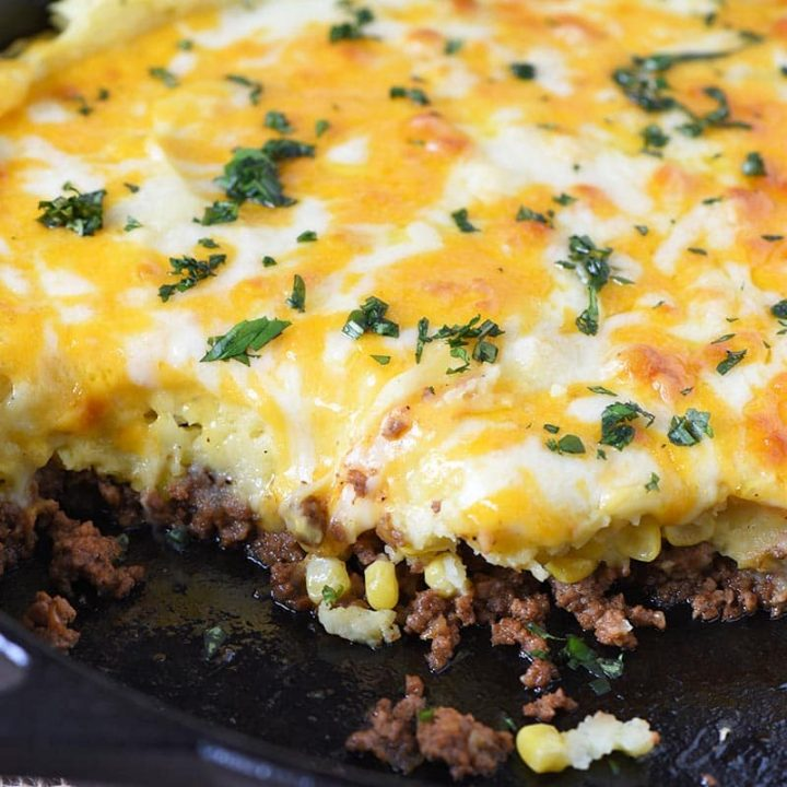 Cheesy Sloppy Joe Shepherd's Pie