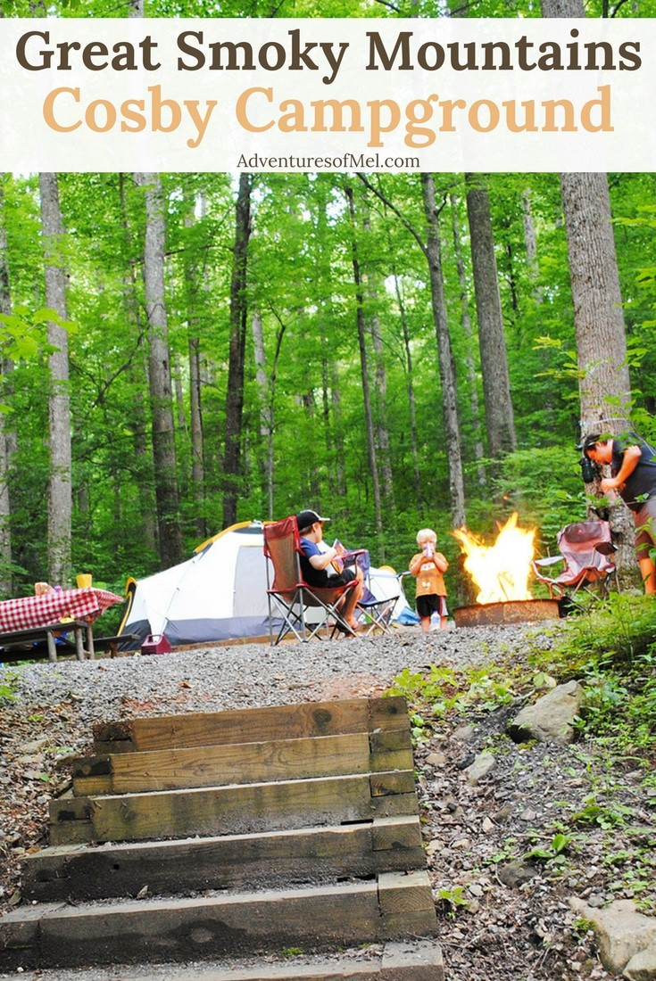 Tent Camping at Cosby in the Smoky Mountains of Tennessee