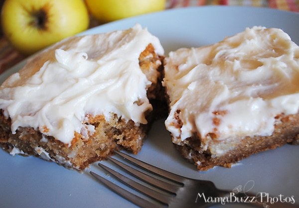 Homemade Apple Cake with cream cheese frosting