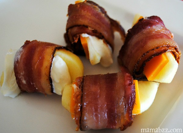 Bacon apples and cheese appetizer