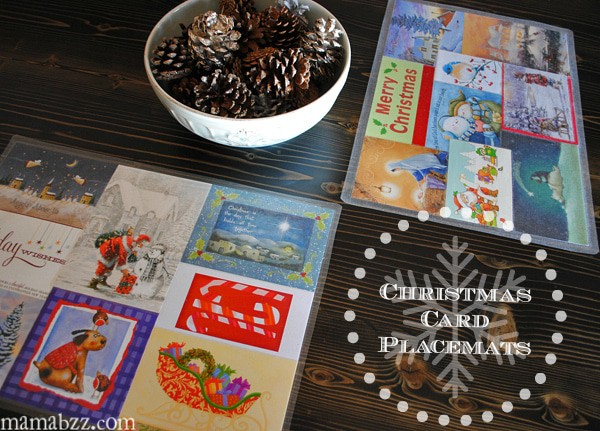 Christmas Card Place Mats