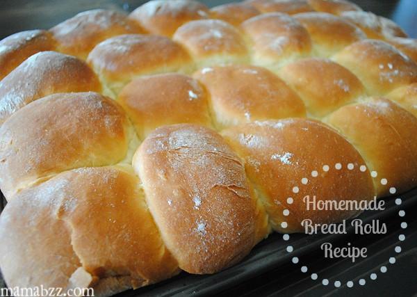 Fresh homemade bread rolls recipe