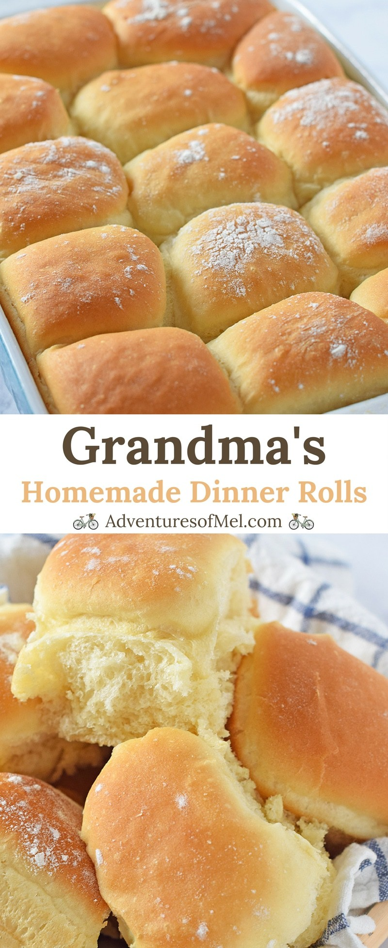 Grandma's homemade dinner rolls recipe