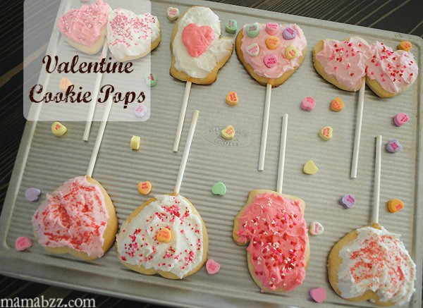 Valentine's Day Cookie Pops from MamaBuzz