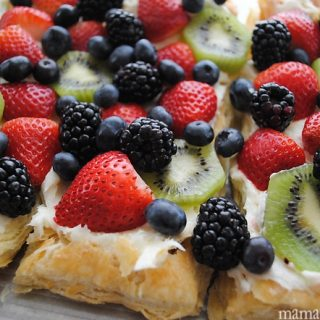 Fruit Pizza with Puff Pastry