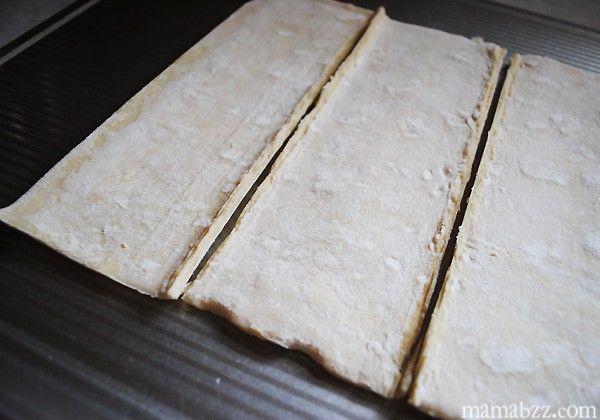 Prep puff pastry sheets