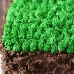 Minecraft Grass block Cake without Fondant