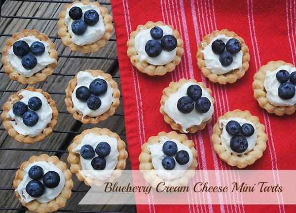 Blueberry Cream Cheese Mini Tarts