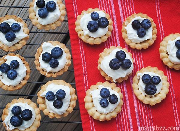 Blueberry Cream Cheese Tarts