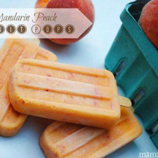 Mandarin Peach Frozen Fruit Pops Recipe