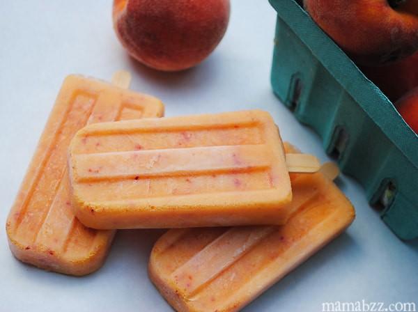 Mandarin Peach Popsicles