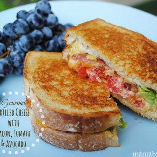 Gourmet Grilled Cheese with Bacon, Tomato, and Avocado Recipe