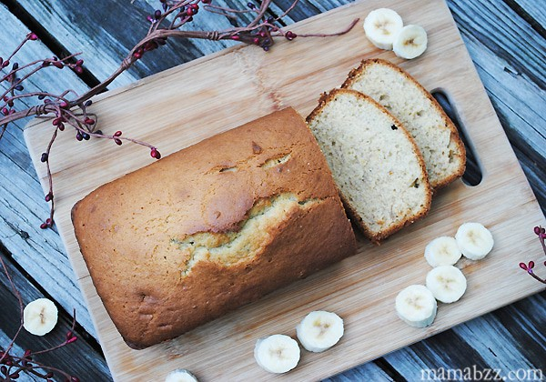 Warm Banana Bread Slices