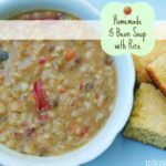 Homemade 15 Bean Soup with Rice