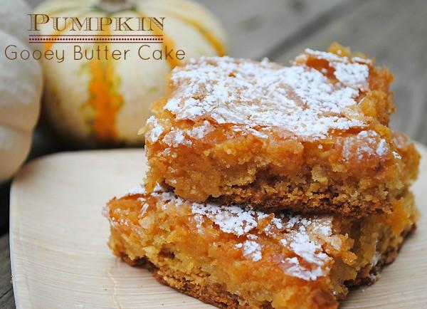 Pumpkin Gooey Butter Cake Recipe {mamabzz.com}