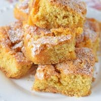 Fall is in the air! How to switch up one of my favorite desserts to make Pumpkin Spice Gooey Butter Cake. Scrumptious fall dessert filled with ooey gooey, buttery, cream cheese goodness.