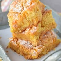 When Pumpkin Spice Gooey Butter Cake is in the oven, my boys know it's fall. How to make this delicious fall dessert!
