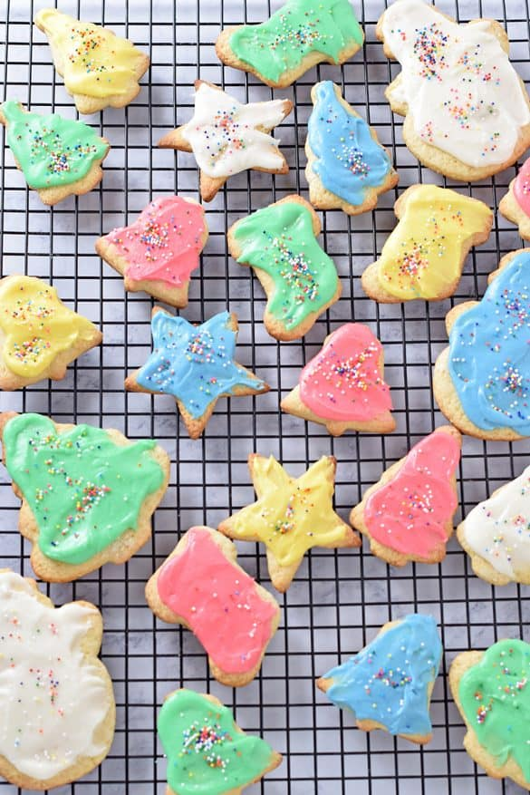 Crisp Cutout Sugar Cookies usually end up on a plate for Santa every Christmas Eve. This is one of my family's favorite Christmas cookie recipes, the quintessential holiday treat.