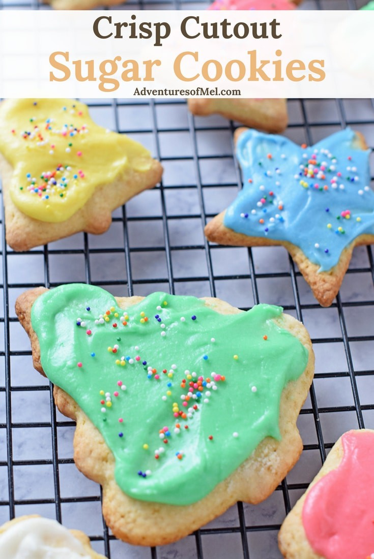 The best sugar cookie recipe ever, straight from Mama's kitchen… Crisp Cutout Sugar Cookies. Such a scrumptious holiday treat, perfect for Christmas parties!