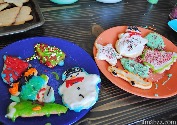 Decorating sugar cookies with kids