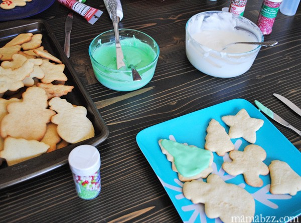 Frost and decorate sugar cookies