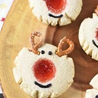 Red-Nosed Thumbprint Cookies