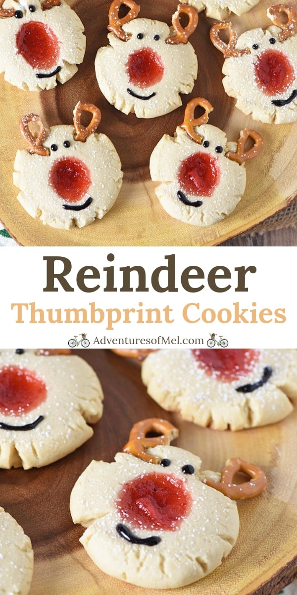 Red-Nosed Reindeer Thumbprint Cookies Recipe