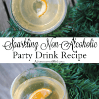 Sparkling Non-Alcoholic Party Drink with a Touch of Tangerine