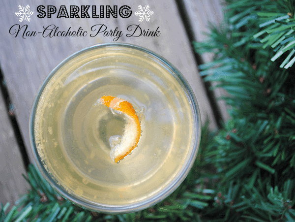 Sparkling Non-Alcoholic Party Drink Recipe from MamaBuzz {mamabzz.com}