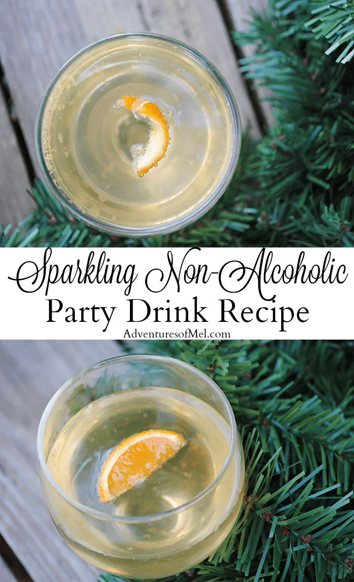 Planning a New Year's Eve party requires party drinks. If you love a good mocktail, this sparkling non-alcoholic party drink with a touch of tangerine will have your taste buds hoppin'. Get the super easy recipe!