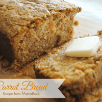 Homemade Carrot Bread Recipe from MamaBuzz