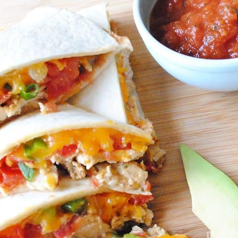 Recipe for Cheesy Chicken Quesadillas