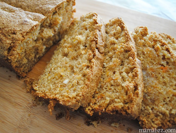 Sliced Carrot Bread, recipe from MamaBuzz