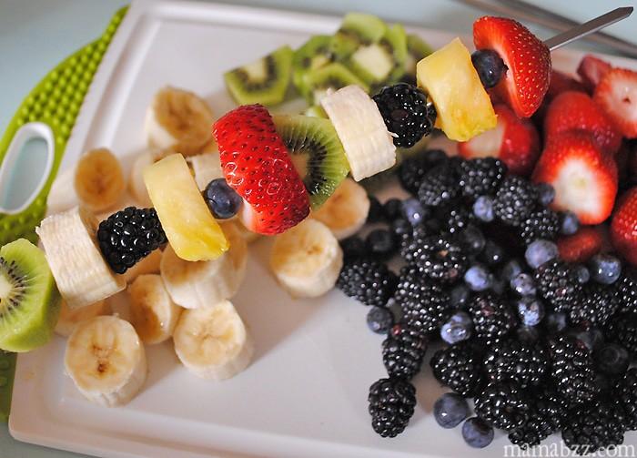Add fruit to kabob stick #SpreadtheFlavor #shop