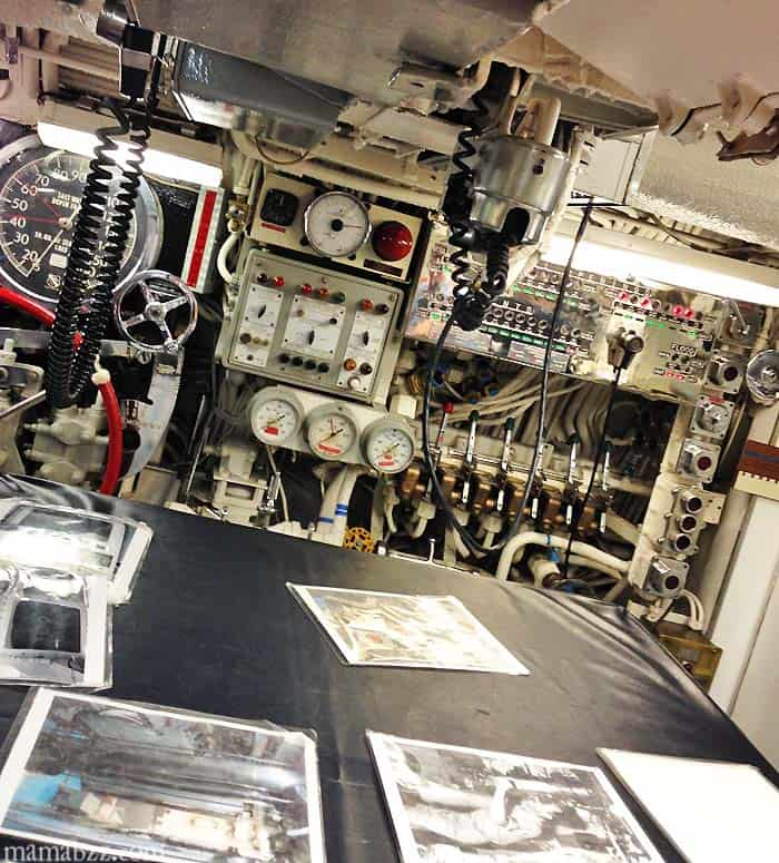 Control Room in USS Razorback Submarine