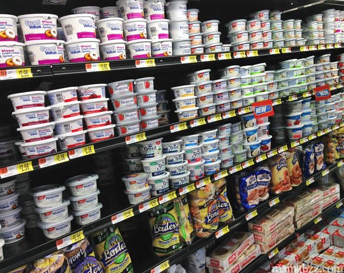 Cream cheese selection at Walmart #SpreadtheFlavor #shop