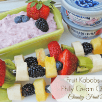 Fruit Kabobs with a Chunky Cream Cheese Fruit Dip, Recipe from MamaBuzz #SpreadtheFlavor #shop