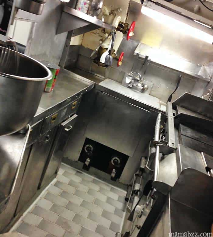 Kitchen in USS Razorback Submarine