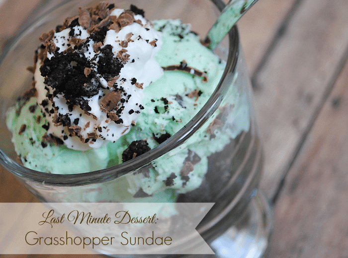 Last Minute Dessert Idea Grasshopper Sundae from MamaBuzz
