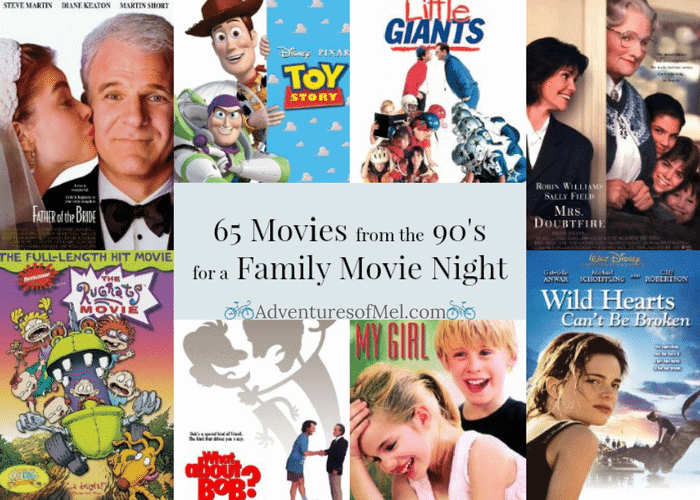 65 Movies from the 90's for a Family Movie Night