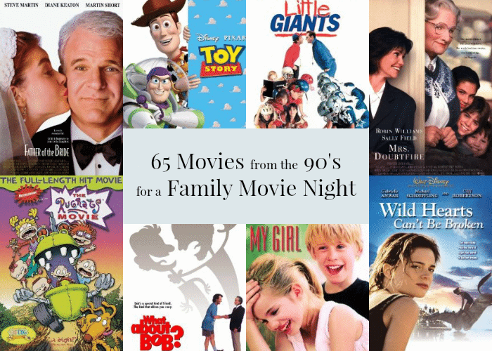 List of 65 Movies from the 90's for a Family Movie Night via MamaBuzz