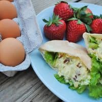 Got leftovers? Maybe you have a few leftover hard boiled eggs from Easter sitting in your fridge. Use them to make Loaded Egg Salad Pitas, a delicious picnic food… pure perfection in the lunch box. Grab the recipe for Loaded Egg Salad!