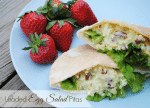 Loaded Egg Salad Pitas made from Great Day Farms Eggs, Recipe from MamaBuzz