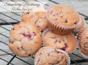 Strawberry Blackberry Muffin Recipe from MamaBuzz