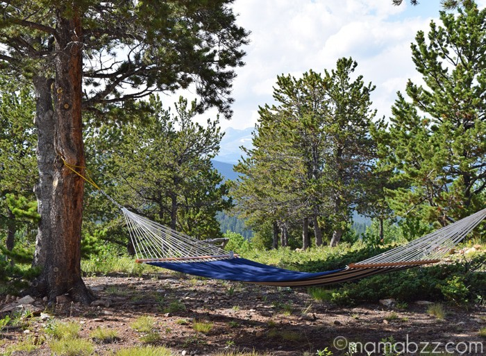 Hammock at Mountain View Chalet {MamaBuzz - mamabzz.com}
