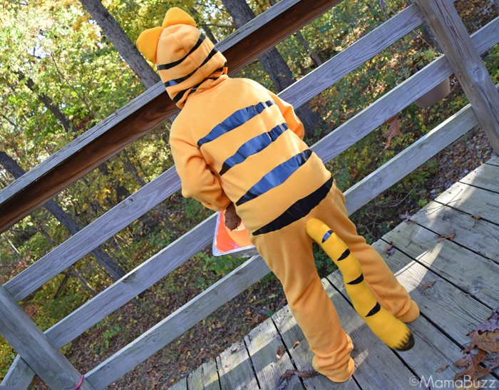 Back of Garfield Costume {MamaBuzz - mamabzz.com}