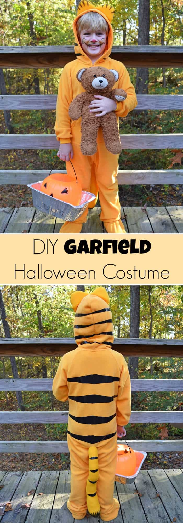 Easy DIY Garfield Halloween Costume {MamaBuzz - mamabzz.com}