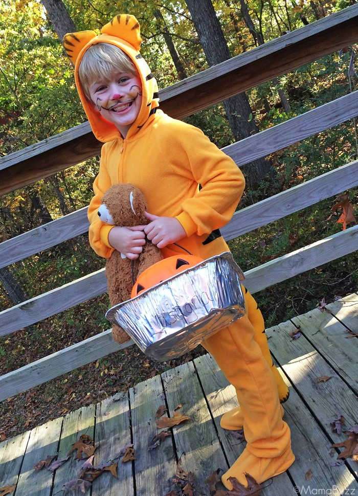 Homemade Garfield Halloween Costume {MamaBuzz - mamabzz.com}
