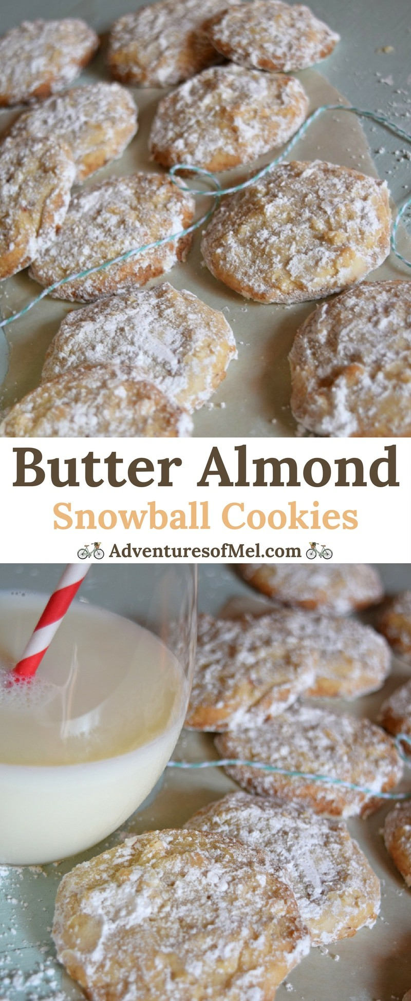 Butter Almond Snowball Cookies are one of my favorite holiday cookie recipes. Melt in your mouth deliciousness with a powdered sugar dusting. Scrumptious Christmas cookies!
