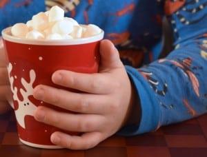 Homemade Raspberry Hot Chocolate {MamaBuzz - mamabzz.com} #EveryDayCare